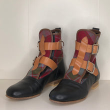 Load image into Gallery viewer, Vivienne Westwood Worlds End Gold Label Weathered Robertson Tartan Seditionary Boots
