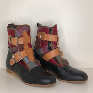 Vivienne Westwood Worlds End Gold Label Weathered Robertson Tartan Seditionary Boots