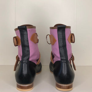 Vivienne Westwood Worlds End Gold Label Lilac Canvas Seditionary Boots