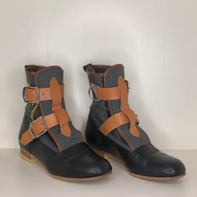 Load image into Gallery viewer, Vivienne Westwood Worlds End Gold Label Grey Canvas Seditionary Boots