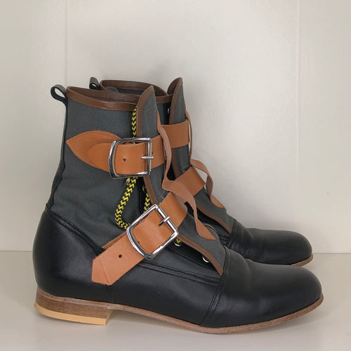 Vivienne Westwood Worlds End Gold Label Grey Canvas Seditionary Boots