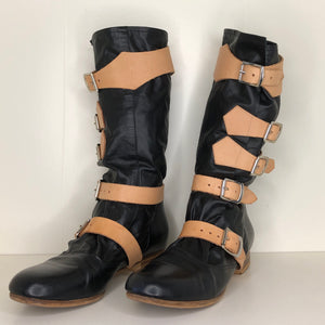 Vivienne Westwood Gold Label Black Leather Pirate Boots