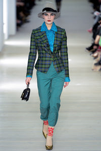 Vivienne Westwood Red Label AW 2013 Green Check Skirt Suit