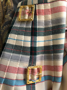 Vivienne Westwood Vintage 1994 Metropolitan Tartan Kilt Skirt Bettina Jacket Suit Set