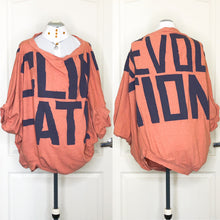 Load image into Gallery viewer, Vivienne Westwood Gold Label Infinity Jumper Climate Revolution Print in Peach and Navy