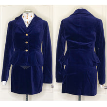 Load image into Gallery viewer, Vivienne Westwood Vintage 1993 Blue Velvet Bettina Jacket Skirt Suit