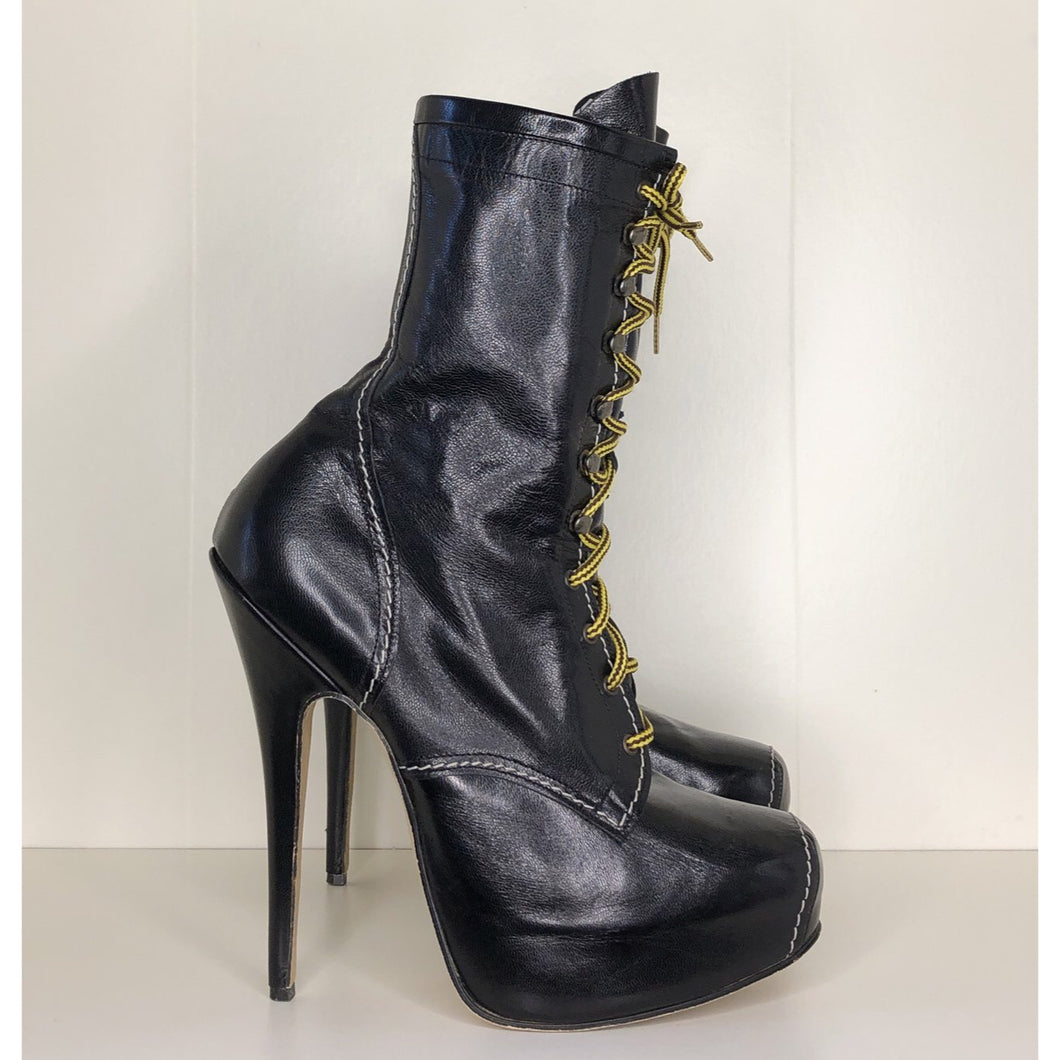 Vivienne Westwood Vintage AW 1998 Elevated Ankle Army Boots