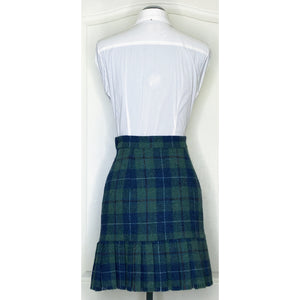 Vivienne Westwood Vintage 1991 Harris Tweed Green Tartan Pleated Pencil Skirt