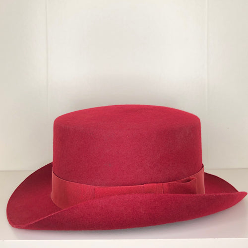 Vivienne Westwood Worlds End John Bull Hat in Red Felt