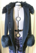 Load image into Gallery viewer, Vivienne Westwood Vintage 1990s Faux Fur Trim Black Wool Jacket