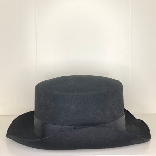Vivienne Westwood Worlds End John Bull Hat in Black Felt
