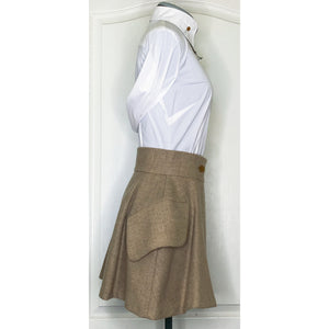 Vivienne Westwood Vintage 1980s Harris Tweed Tan Riding Skirt
