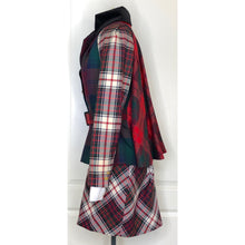 Load image into Gallery viewer, Vivienne Westwood Vintage 1996 Storm in a Teacup Lochcarron Multi-Tartan Cape Back Belted Jacket