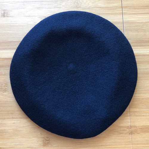 Vivienne Westwood Worlds End Pin Beret Navy Blue