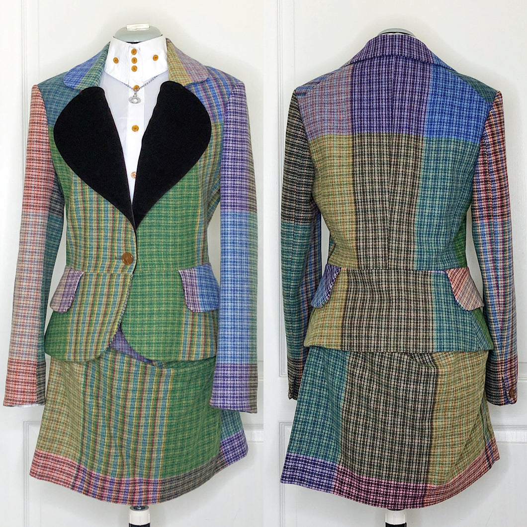 Vivienne Westwood Red Label 2012 Blanket Tweed Love Jacket and Skirt Suit
