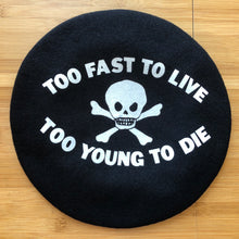 Load image into Gallery viewer, Vivienne Westwood Worlds End Too Fast To Live Beret Black