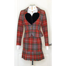 Load image into Gallery viewer, Vivienne Westwood Vintage 1991 Red Tartan Harris Tweed Love Jacket Suit Set
