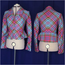Load image into Gallery viewer, Vivienne Westwood Vintage 1993 McAndreas Tartan Bettina Blazer Jacket Naomi Campbell