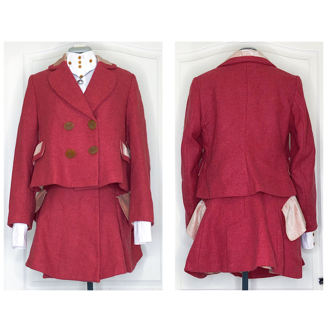 Vivienne Westwood Vintage 1987 Harris Tweed Princess Jacket and Riding Skirt Suit