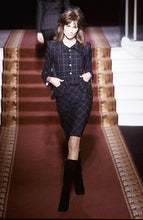 Load image into Gallery viewer, Vivienne Westwood Vintage AW 1999-2000 Black and Red Check Peplum Pockets Jacket Skirt Suit