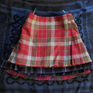 Vivienne Westwood Worlds End Mini Kilt Skirt Robertson Weathered Red Tartan