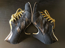 Load image into Gallery viewer, Vivienne Westwood Worlds End Tracey Trainers Black Canvas