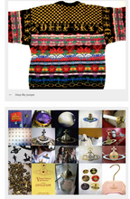 Load image into Gallery viewer, Vivienne Westwood Vintage 1988 Time Machine Deep Sky Jumper Knit Sweater