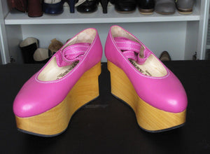 Vivienne Westwood Gold Label Rocking Horse Shoes Ballerina Raspberry Pink