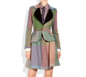 Vivienne Westwood Red Label AW 2012 Blanket Tweed Love Jacket and Skirt Suit