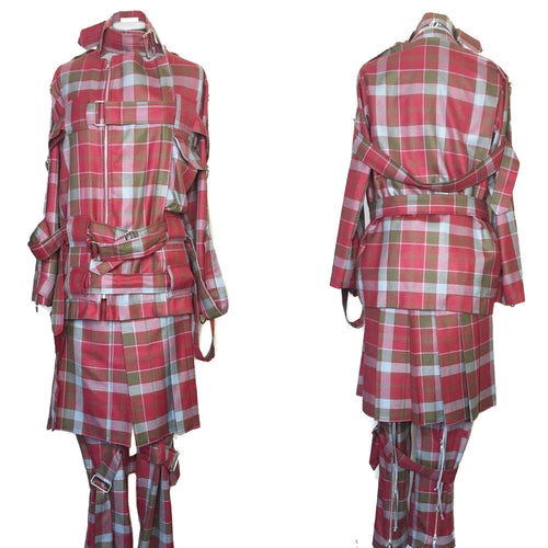 Vivienne Westwood Worlds End 2016 Reissue of 1970s  Punk Bondage Suit Tartan