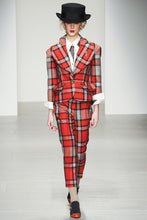 Load image into Gallery viewer, Vivienne Westwood Red Label AW 2014 3D Love Jacket Pants Suit Set in Red Tartan