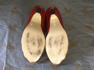 Vivienne Westwood Gold Label Red Mary Janes Low Heels Shoes