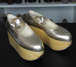 Vivienne Westwood Gold Label Rocking Horse Shoes Ballerina Gold