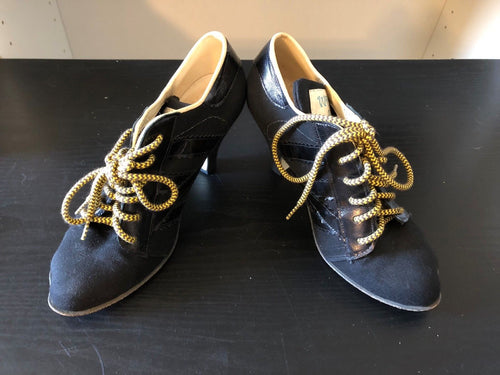 Vivienne Westwood Worlds End Tracey Trainers Black Canvas