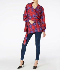 Vivienne Westwood Anglomania AW 2011 Builders Coat in Red Lyon Tartan