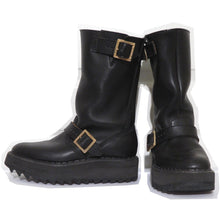 Load image into Gallery viewer, Vivienne Westwood Vintage 1992 Gold Label Black Leather Engineer Boots George Cox