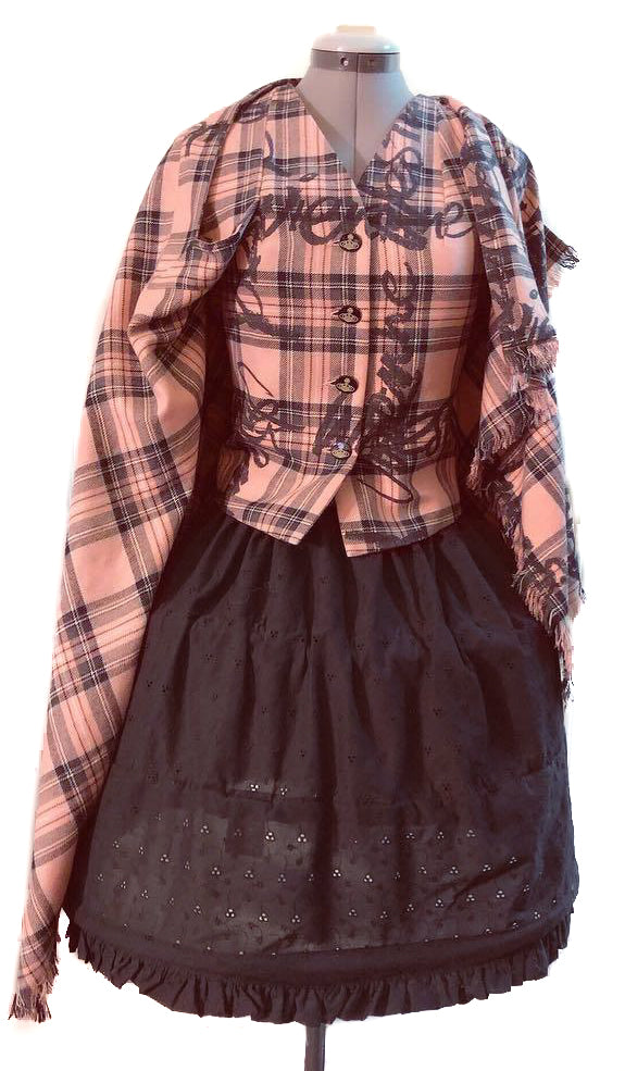 Vivienne Westwood Red Label 2006 Pink Signature Tartan Cape with Waistcoat
