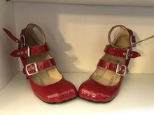 Load image into Gallery viewer, Vivienne Westwood Gold Label Animal Toe 3-Straps Red Patent Leather