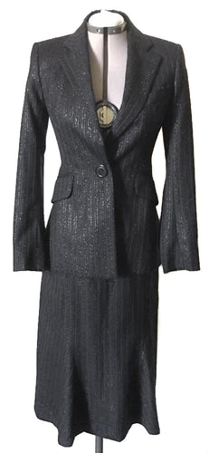 Vivienne Westwood Red Label Sparkly Pinstripe Black Skirt Suit