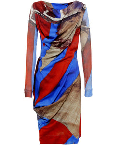 Vivienne Westwood Anglomania AW 2015 Union Jack Fond Dress