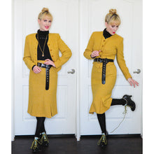 Load image into Gallery viewer, Vivienne Westwood Vintage 1988-89 Yellow Harris Tweed Skirt Suit