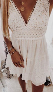 ANGELIQUE ruffle lace dress
