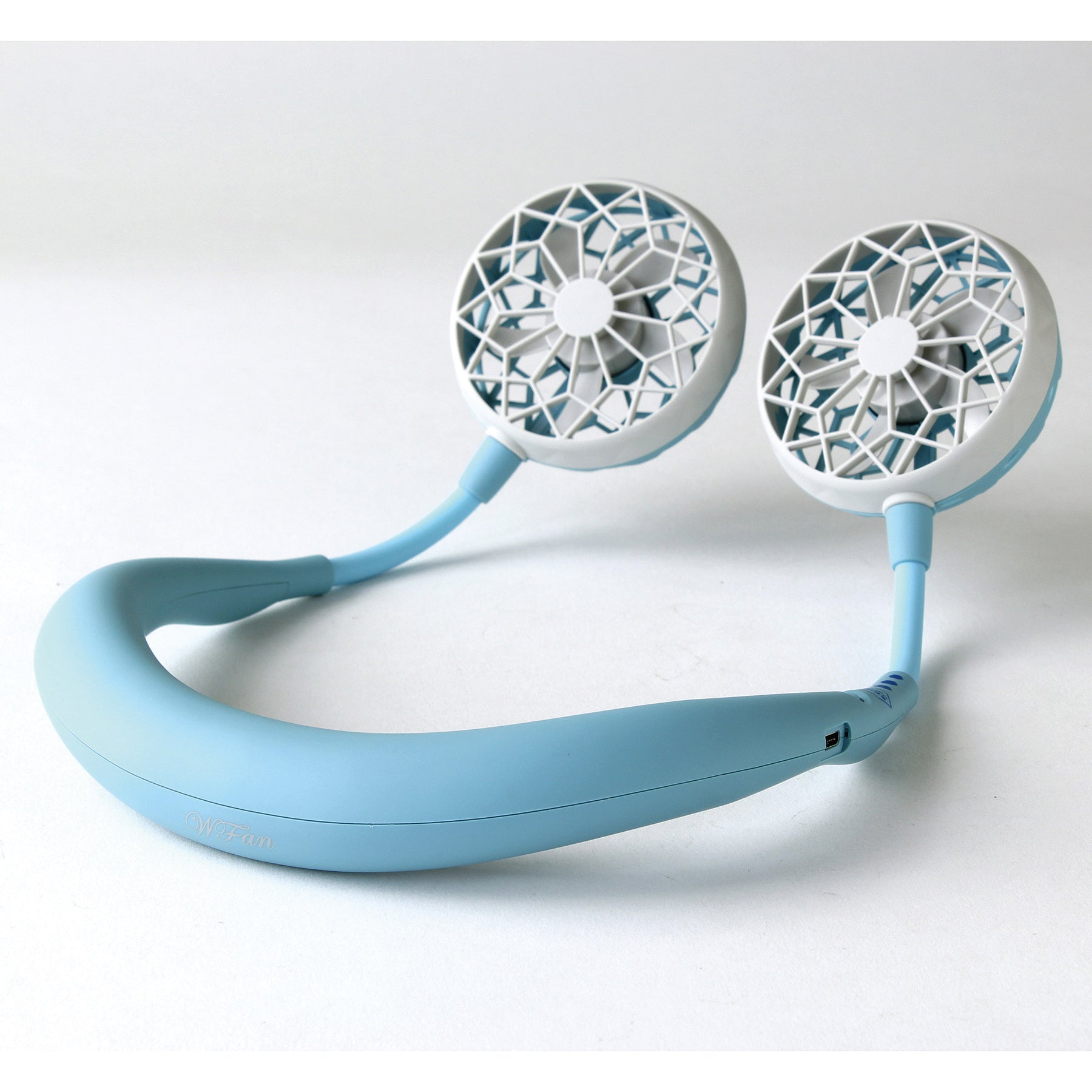 W Fan Wearable Hands free fan 2.0 Edition Aqua Blue