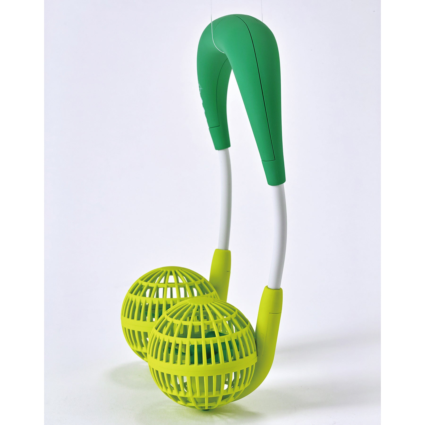 W Fan Wearable Hands free fan For Kids 2.0 Edition Green
