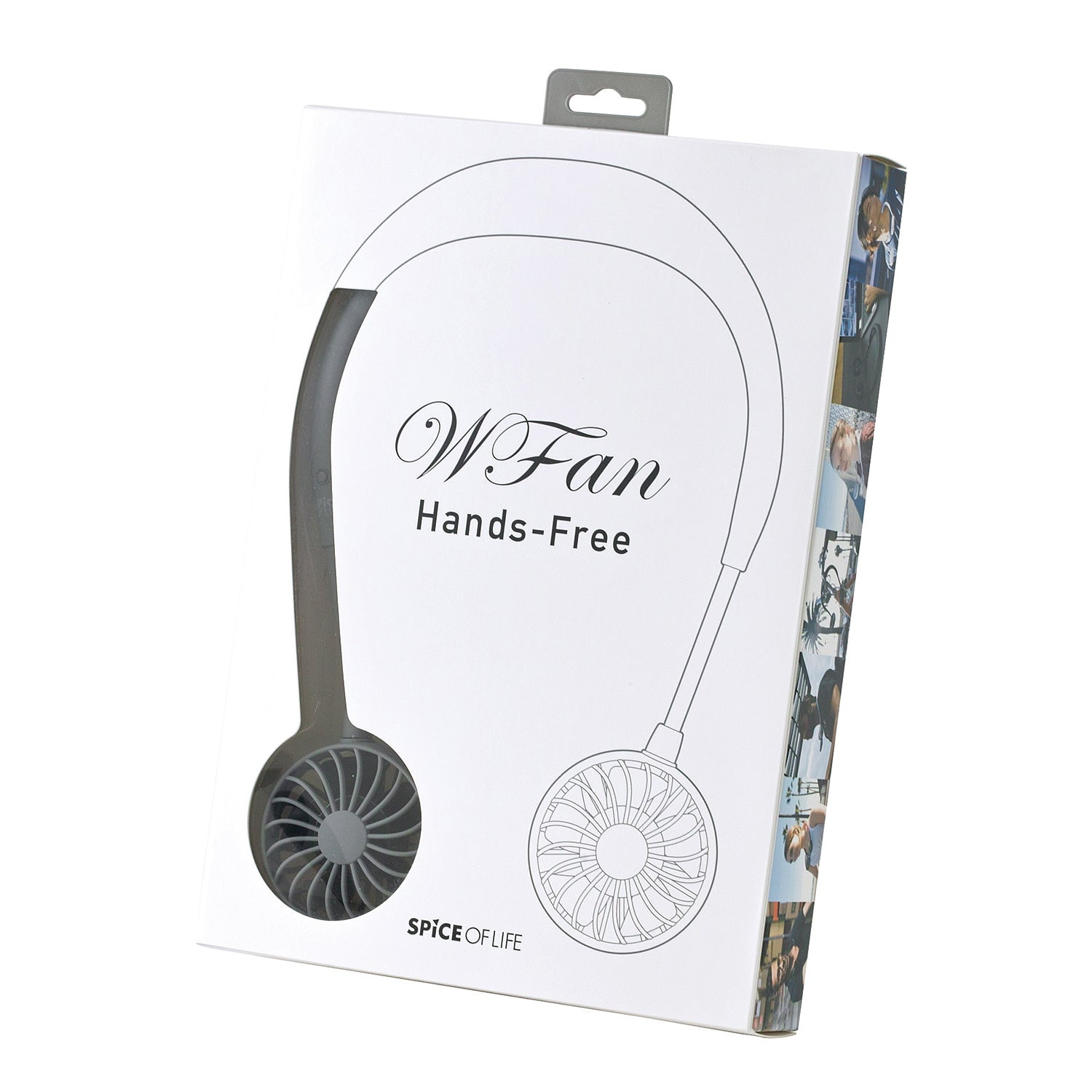 WFan Wearable Hands free Fan GREY