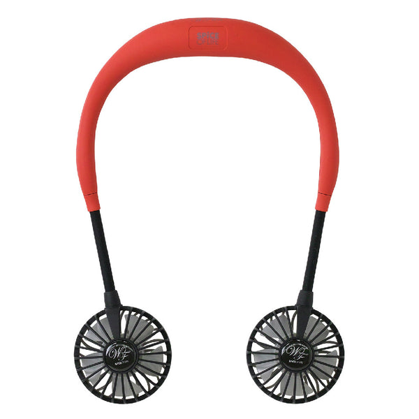 WFan Wearable Hands free Fan RED