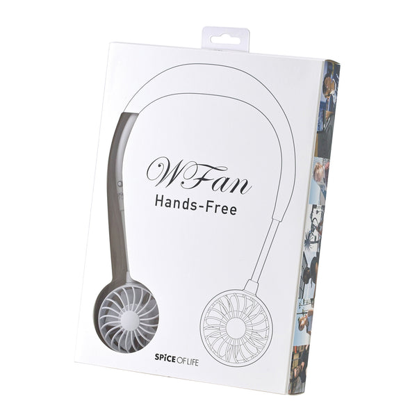 WFan Wearable Hands free Fan WHITE