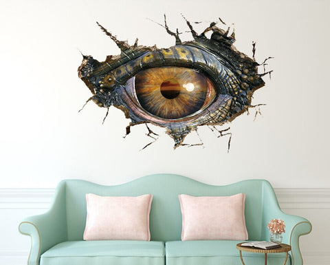 Big Dinosaur Eye 3D Wall Stickers Creative Removable - Wall Stickers Inc