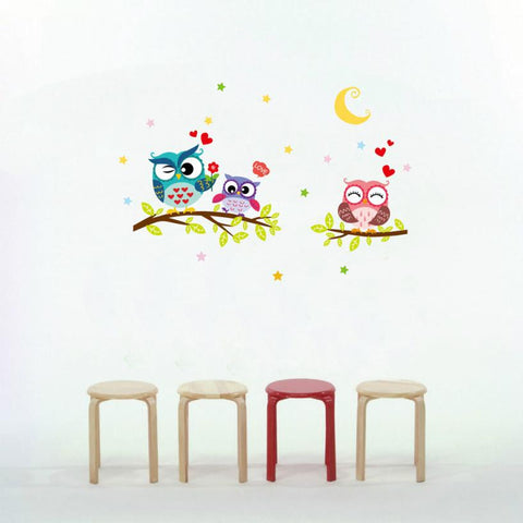cartoon decals owl wall art diy wall stickers - Wall Stickers Inc