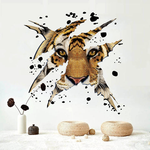 3D Tiger PVC Wall Stickers